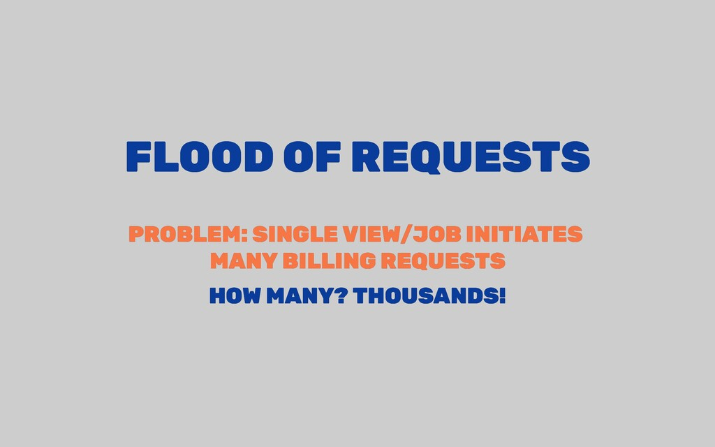 FLOOD OF REQUESTS FLOOD OF REQUESTS PROBLEM: SI...