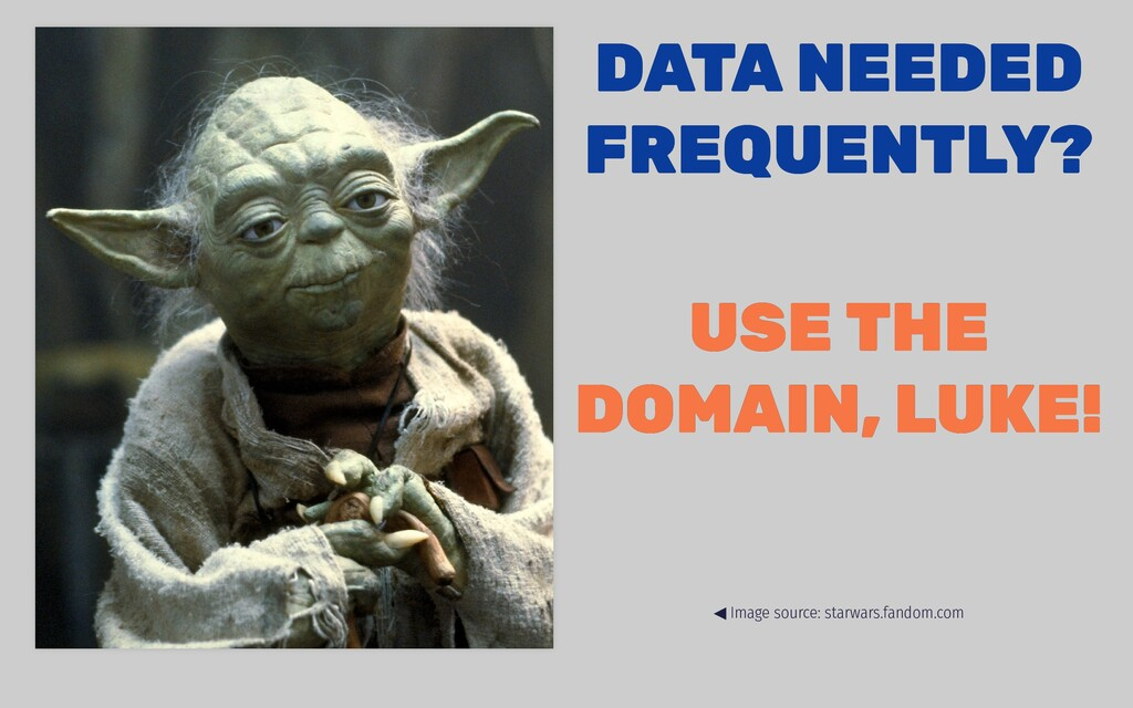 DATA NEEDED DATA NEEDED FREQUENTLY? FREQUENTLY?...