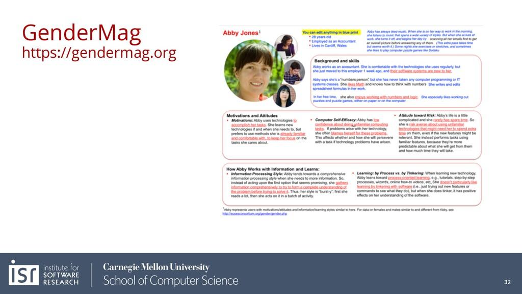 GenderMag https://gendermag.org 32