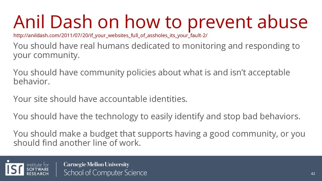 Anil Dash on how to prevent abuse http://anilda...