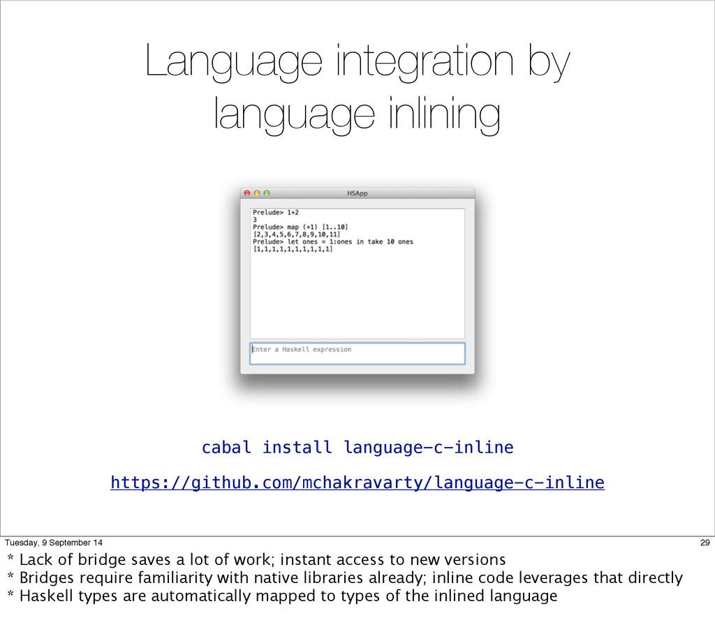Language integration by language inlining https...