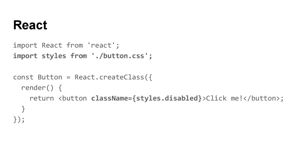 React import React from 'react'; import styles ...