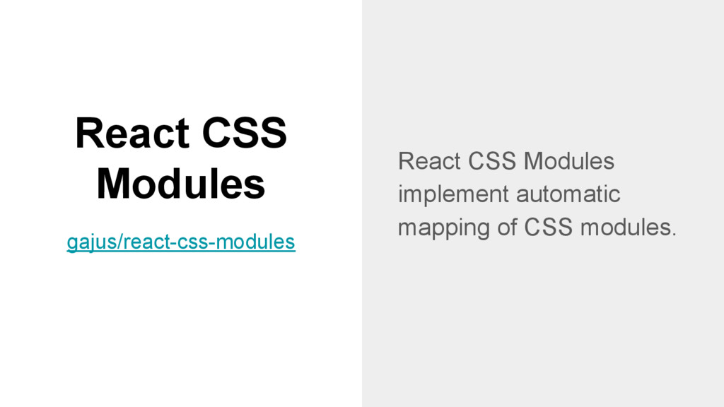 React CSS Modules React CSS Modules implement a...