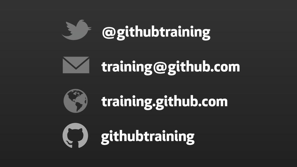 training@github.com training.github.com @github...
