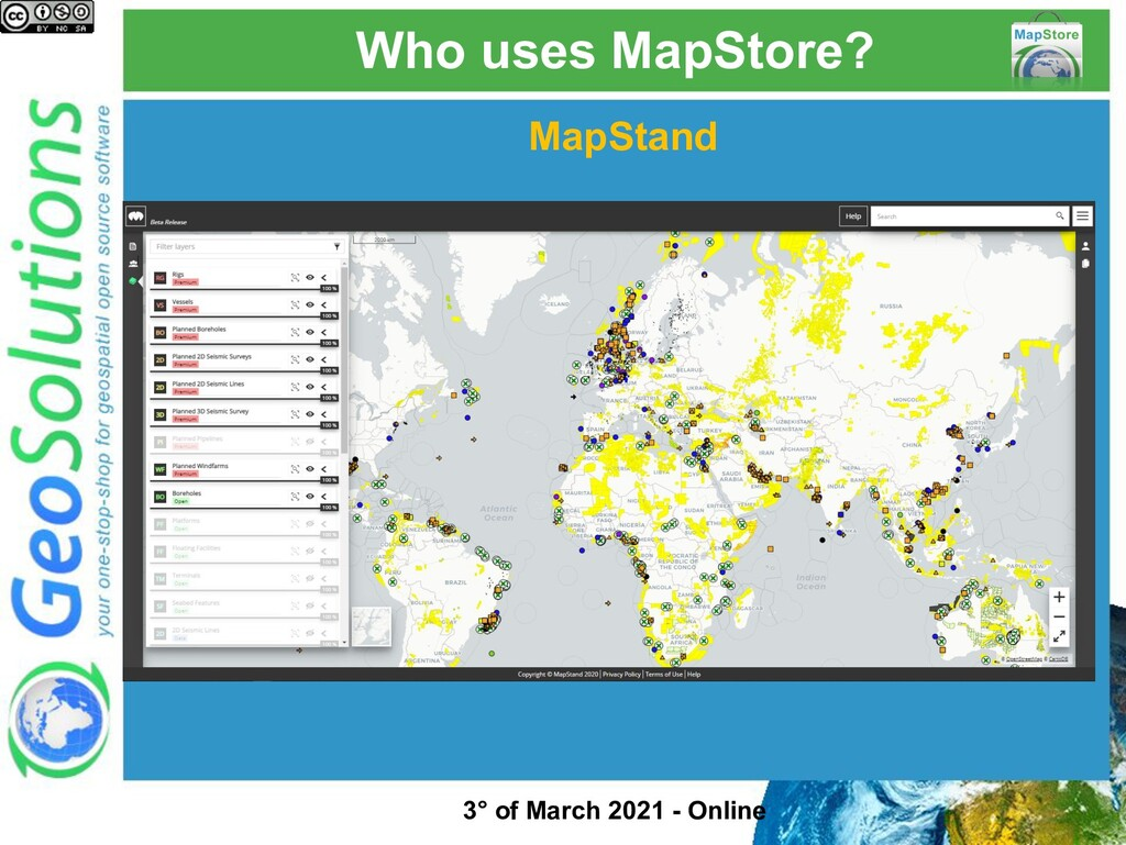Who uses MapStore? MapStand 3° of March 2021 - ...
