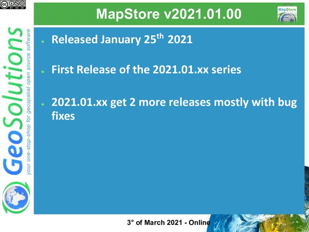 MapStore v2021.01.00 ● Released January 25th 20...