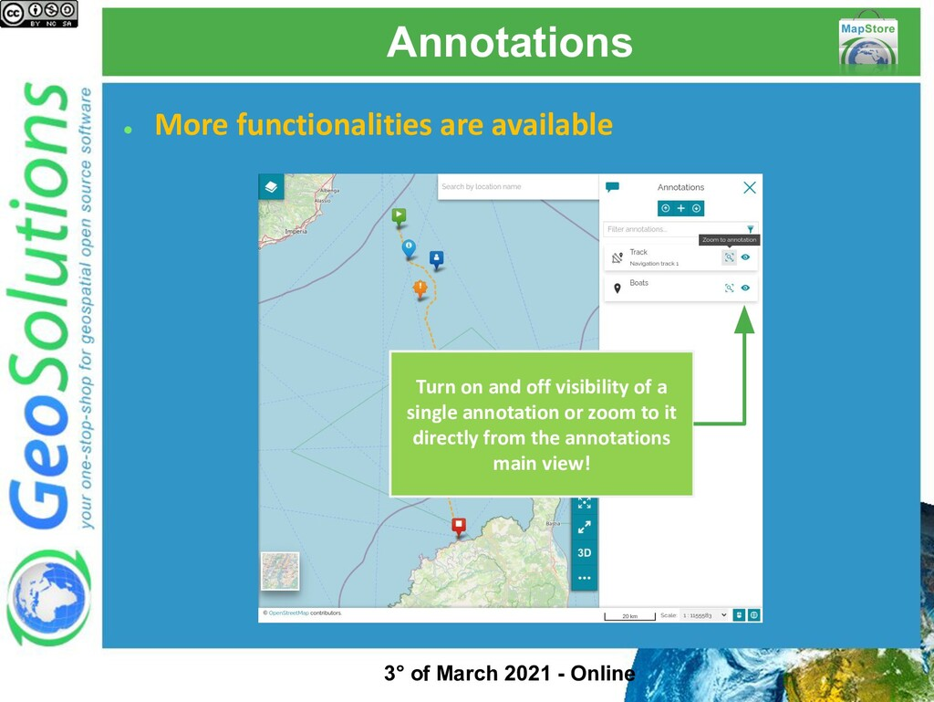 Annotations ● More functionalities are availabl...