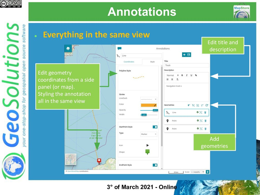 Annotations ● Everything in the same view Add g...