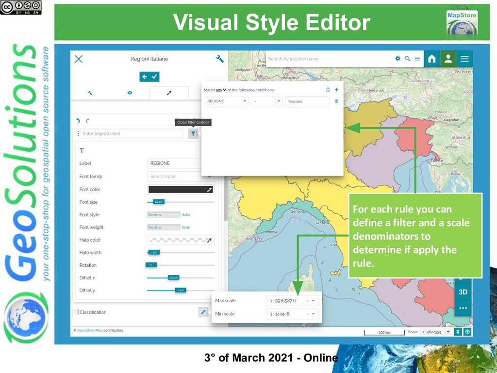 Visual Style Editor For each rule you can defin...