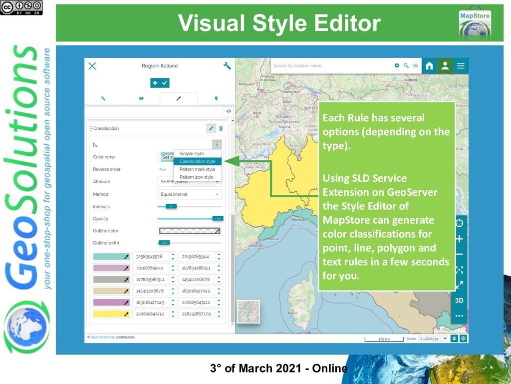 Visual Style Editor Each Rule has several optio...