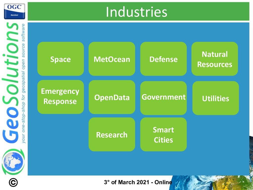 Industries Smart Cities Space MetOcean Defense ...