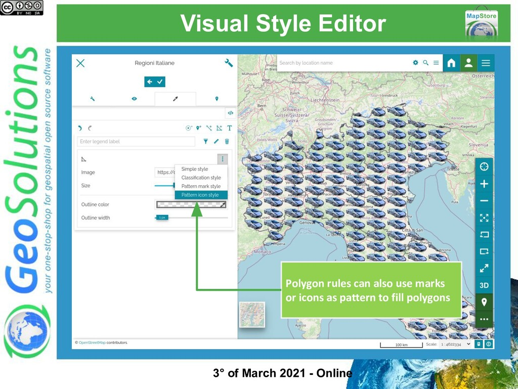 Visual Style Editor Polygon rules can also use ...