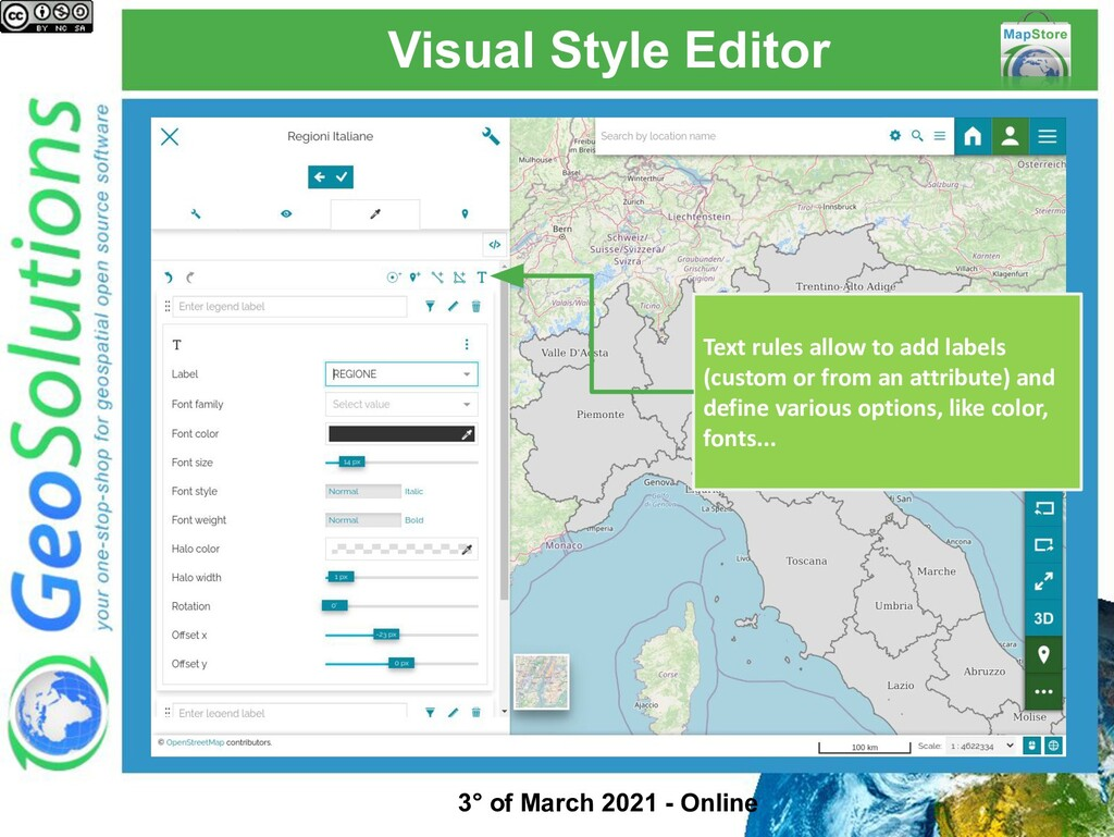 Visual Style Editor Text rules allow to add lab...