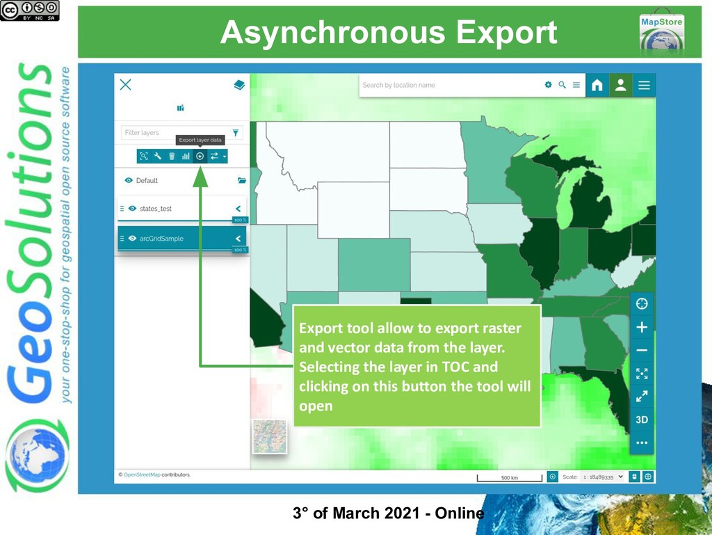 Asynchronous Export Export tool allow to export...