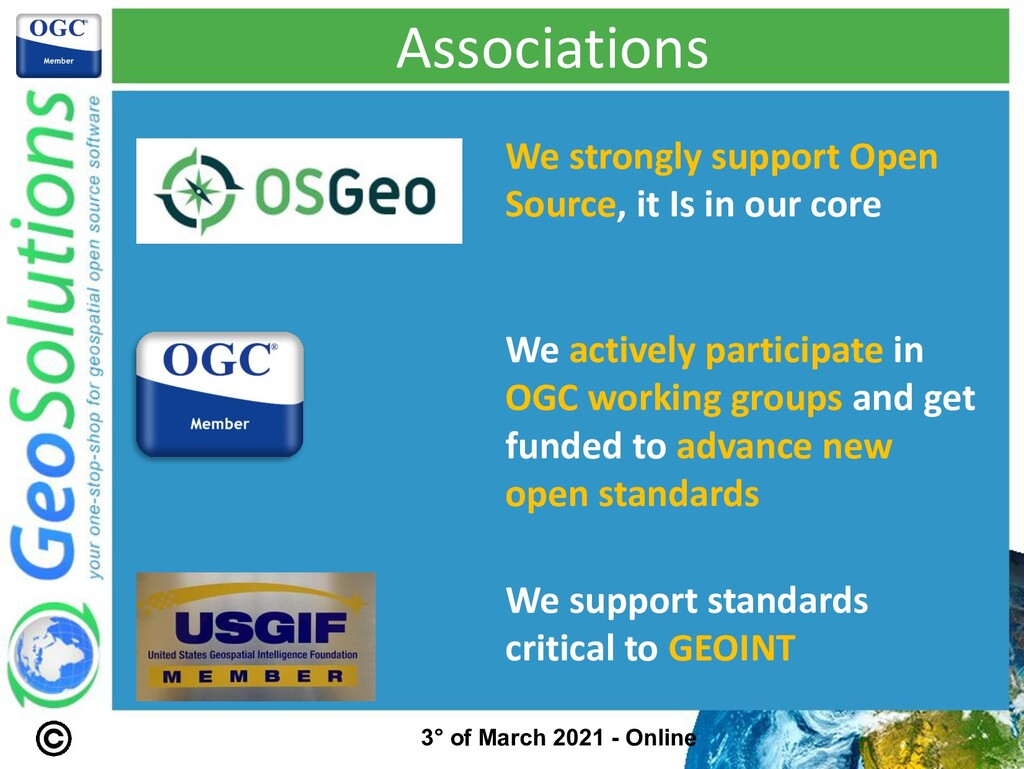 Associations We strongly support Open Source, i...