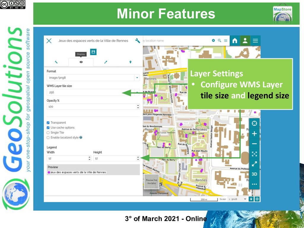 Minor Features Layer Settings • Configure WMS L...