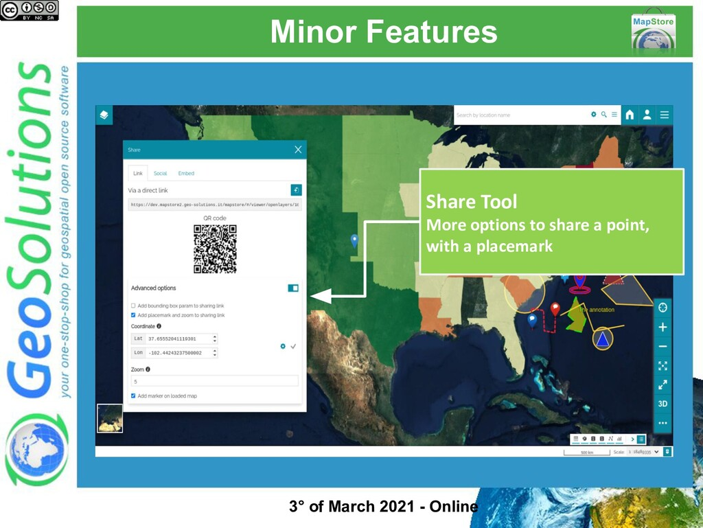 Minor Features Share Tool More options to share...