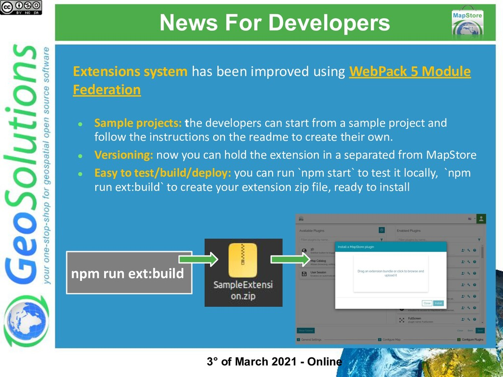 News For Developers Extensions system has been ...