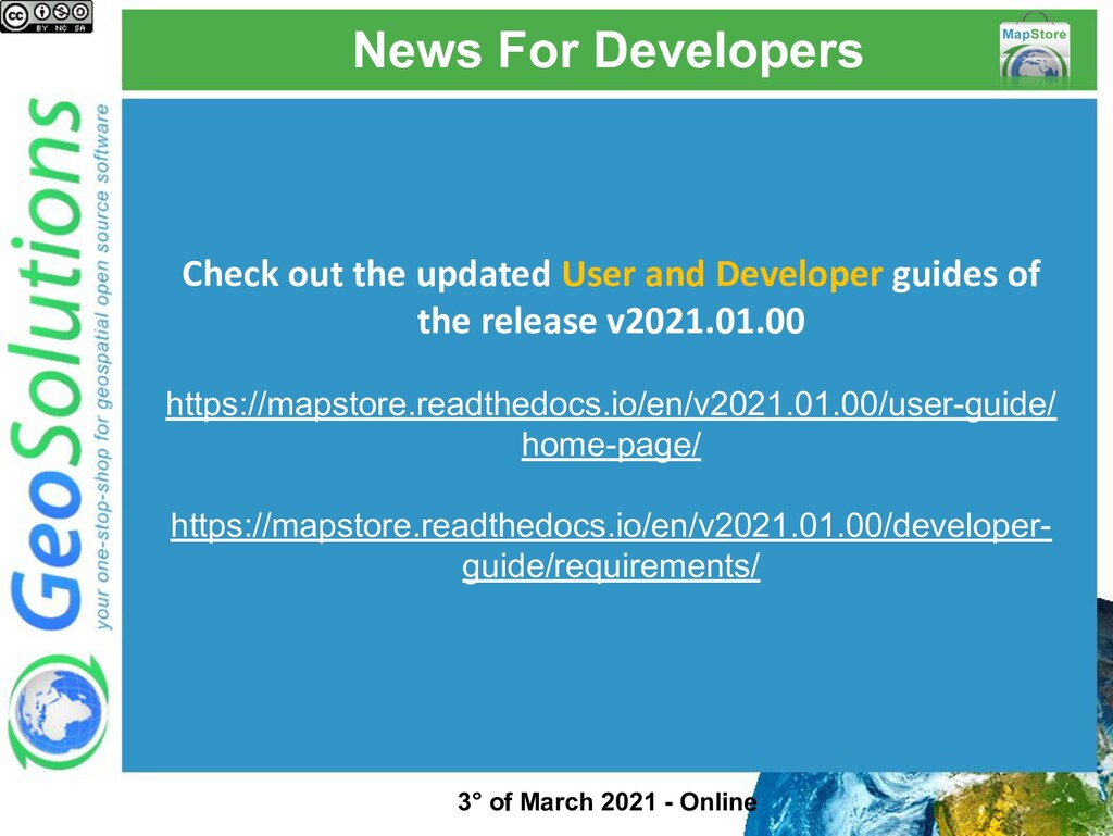 News For Developers Check out the updated User ...