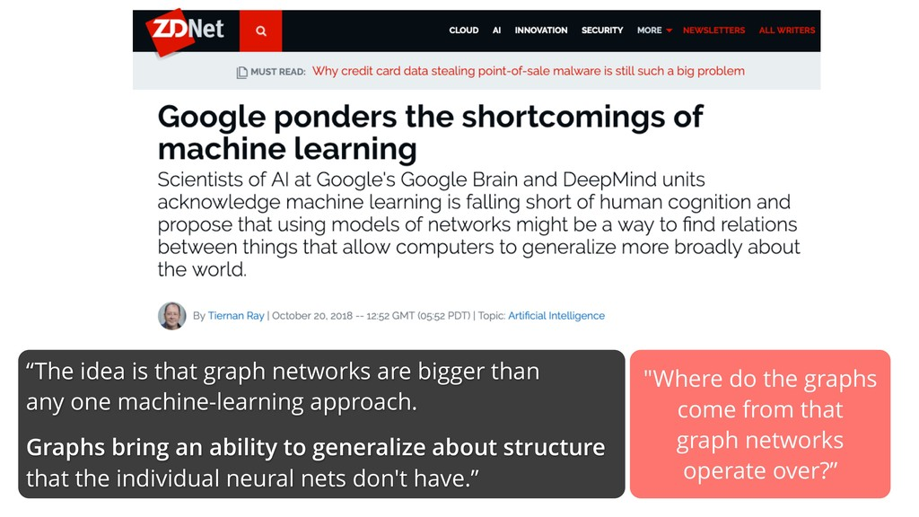 """""""The idea is that graph networks are bigger tha..."""