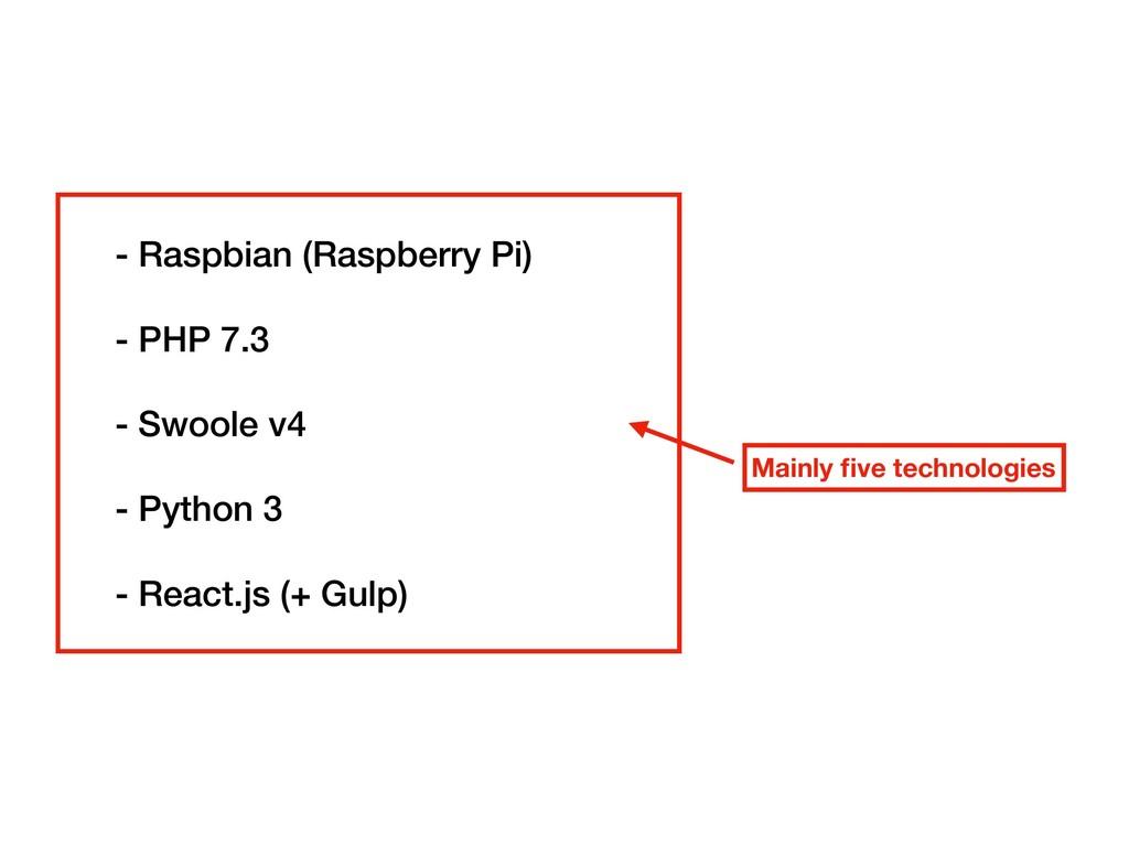 - Raspbian (Raspberry Pi) - PHP 7.3 - Swoole v4...