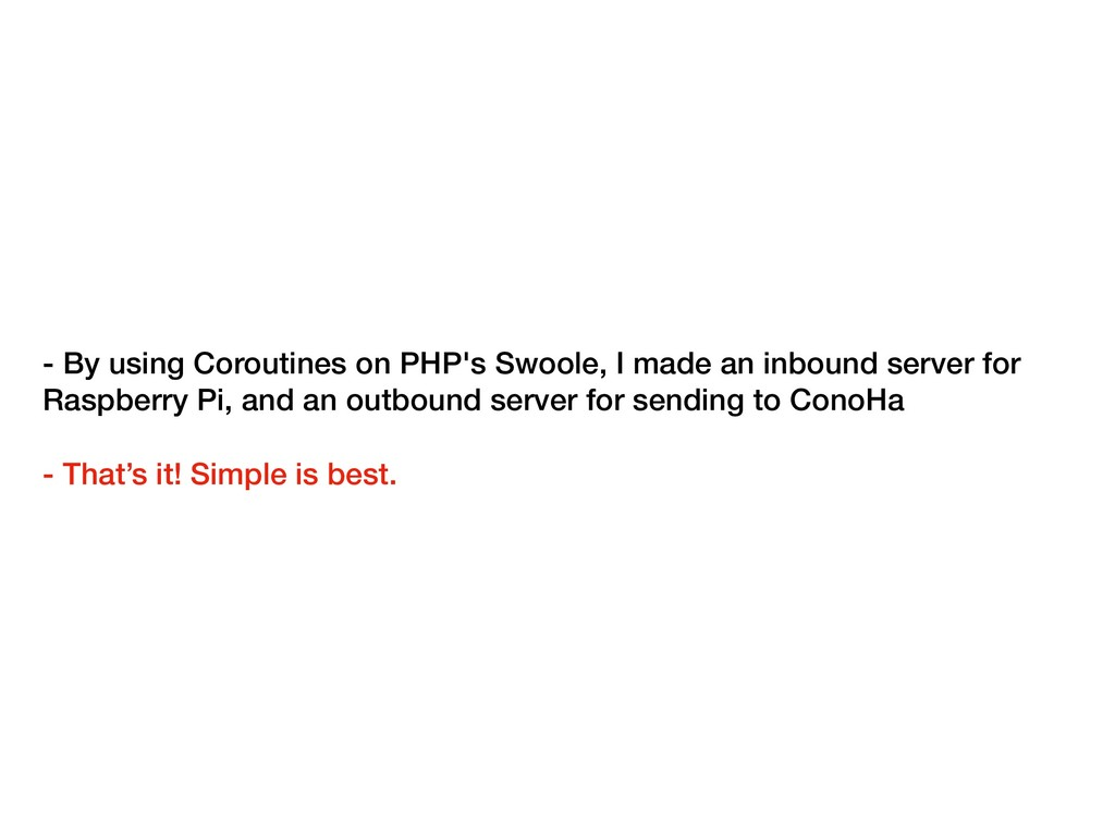 - By using Coroutines on PHP's Swoole, I made a...