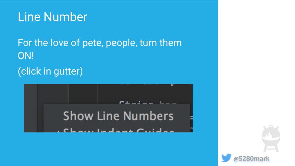 @5280mark Line Number For the love of pete, peo...