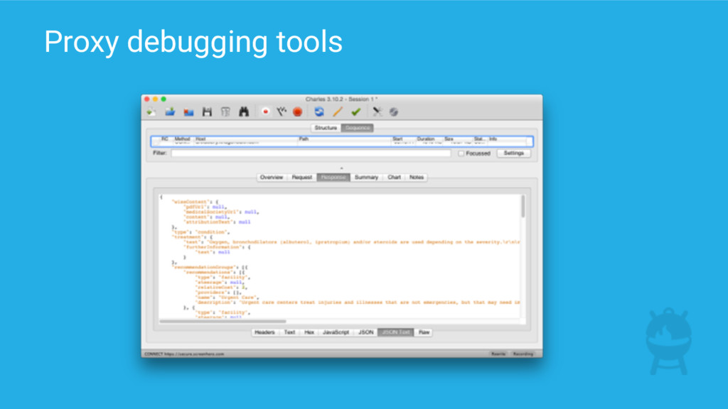 Proxy debugging tools