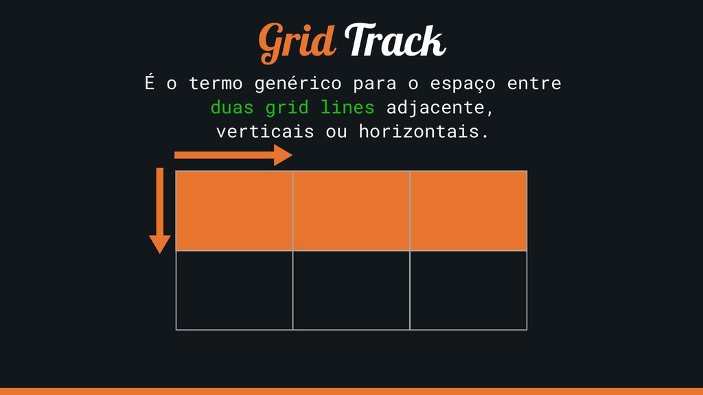 Grid Track É o termo genérico para o espaço ent...