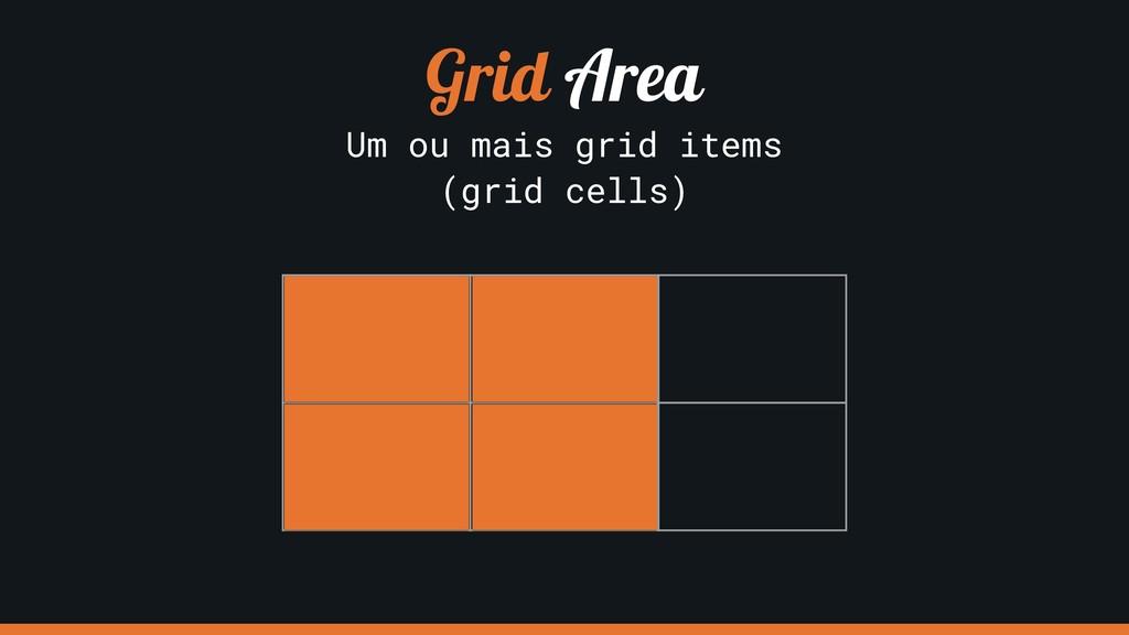 Grid Area Um ou mais grid items (grid cells)
