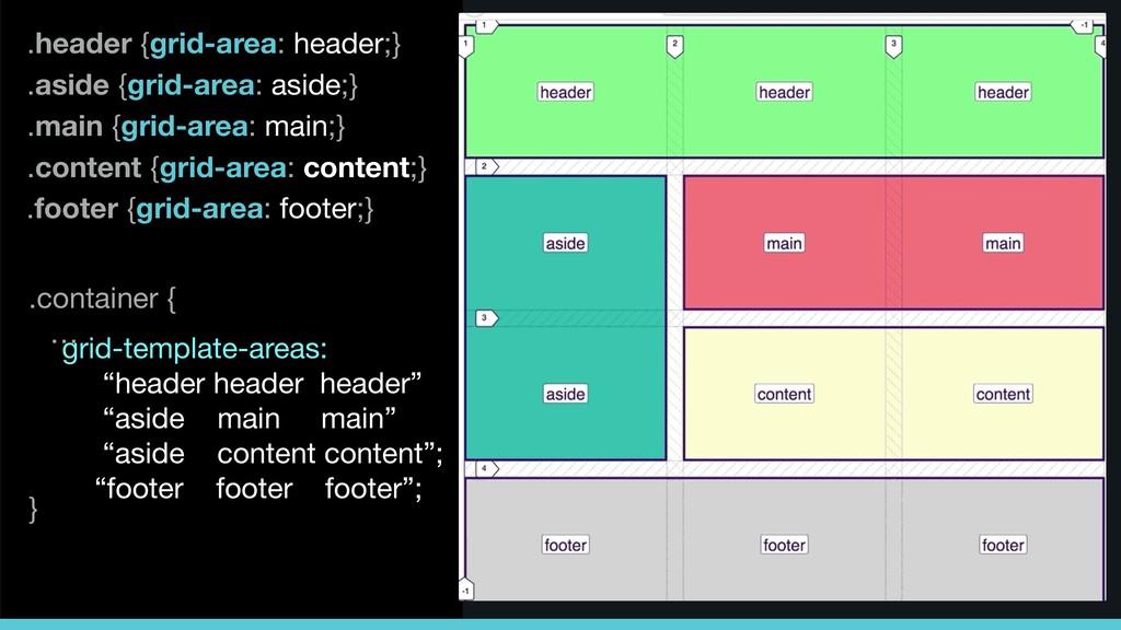 .header {grid-area: header;} .content {grid-are...