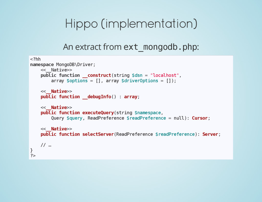 Hippo (implementation) An extract from e x t _ ...