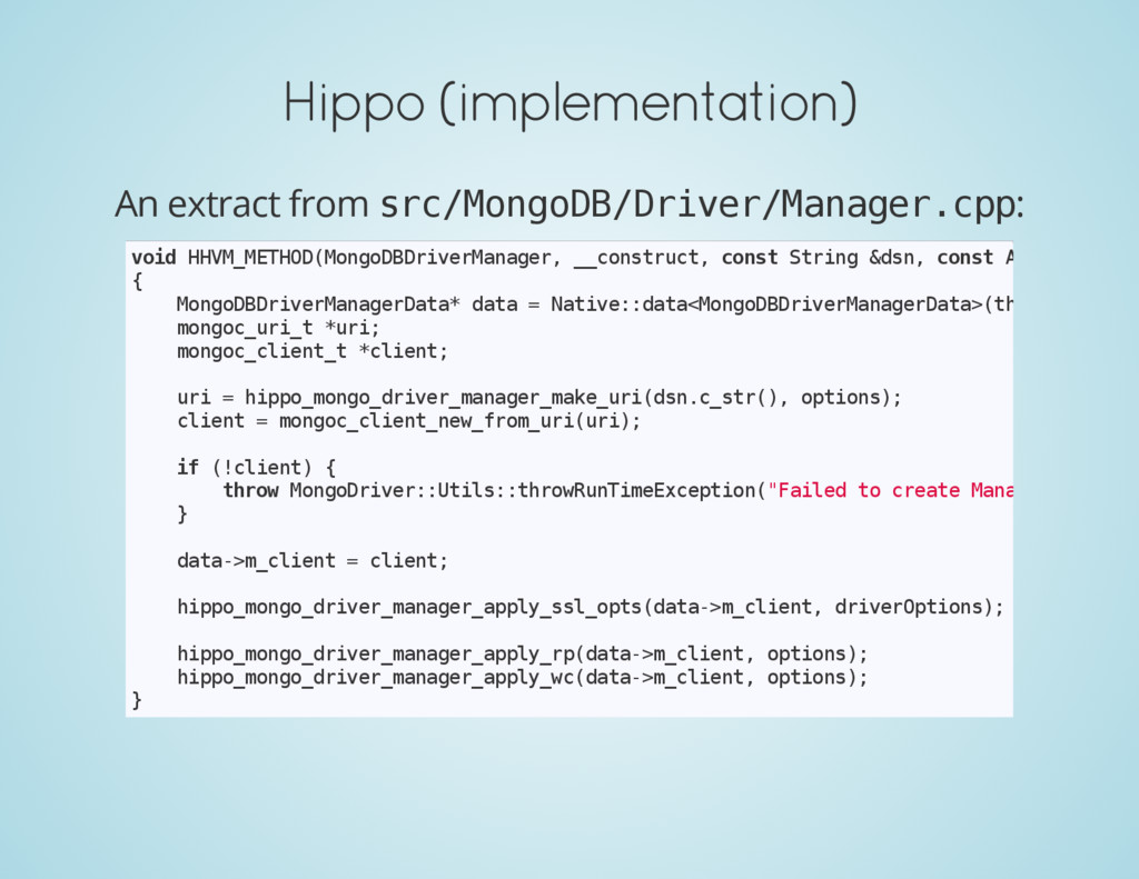 Hippo (implementation) An extract from s r c / ...