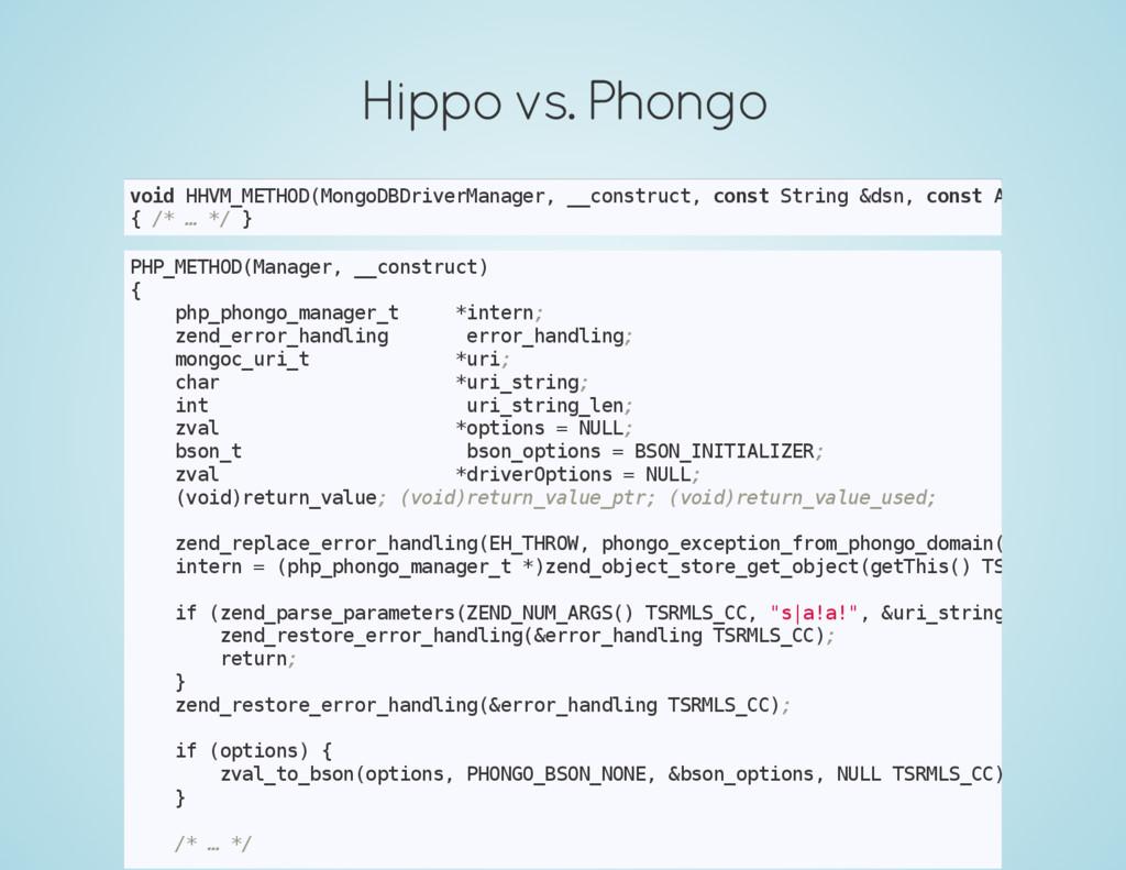 Hippo vs. Phongo v o i d H H V M _ M E T H O D ...