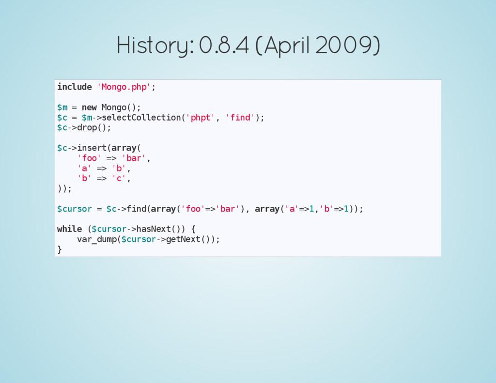 History: 0.8.4 (April 2009) i n c l u d e ' M o...