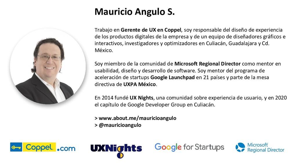 Mauricio Angulo S. Trabajo en Gerente de UX en ...