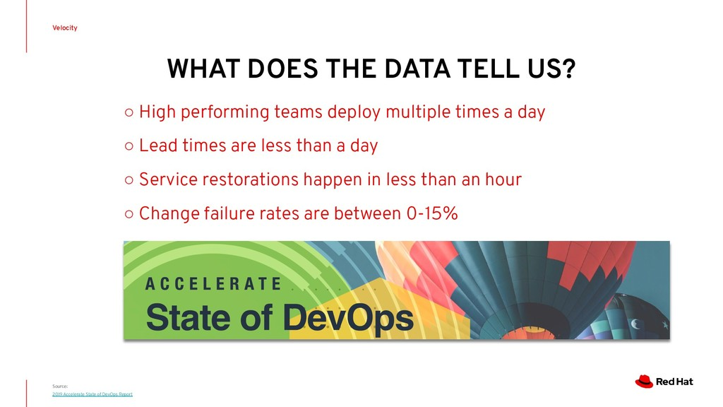 WHAT DOES THE DATA TELL US? Velocity Source: 20...