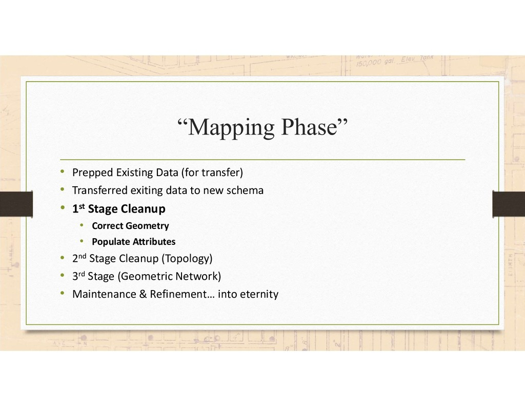 """Mapping Phase"" • Prepped Existing Data (for tr..."
