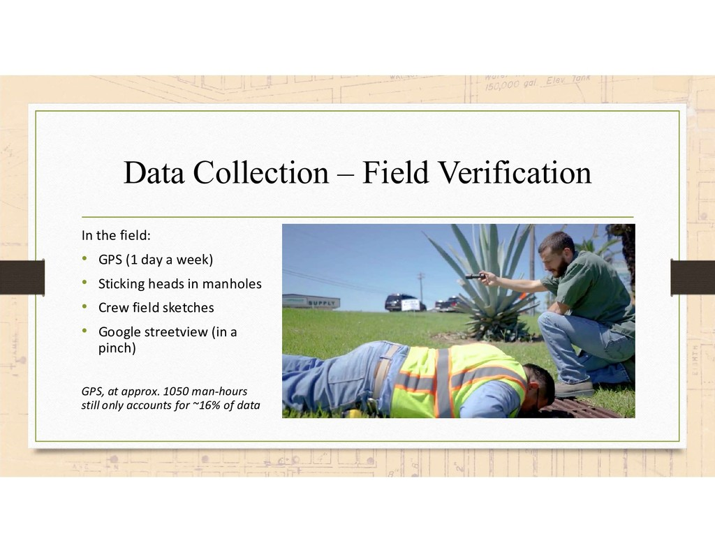 Data Collection – Field Verification In the fie...