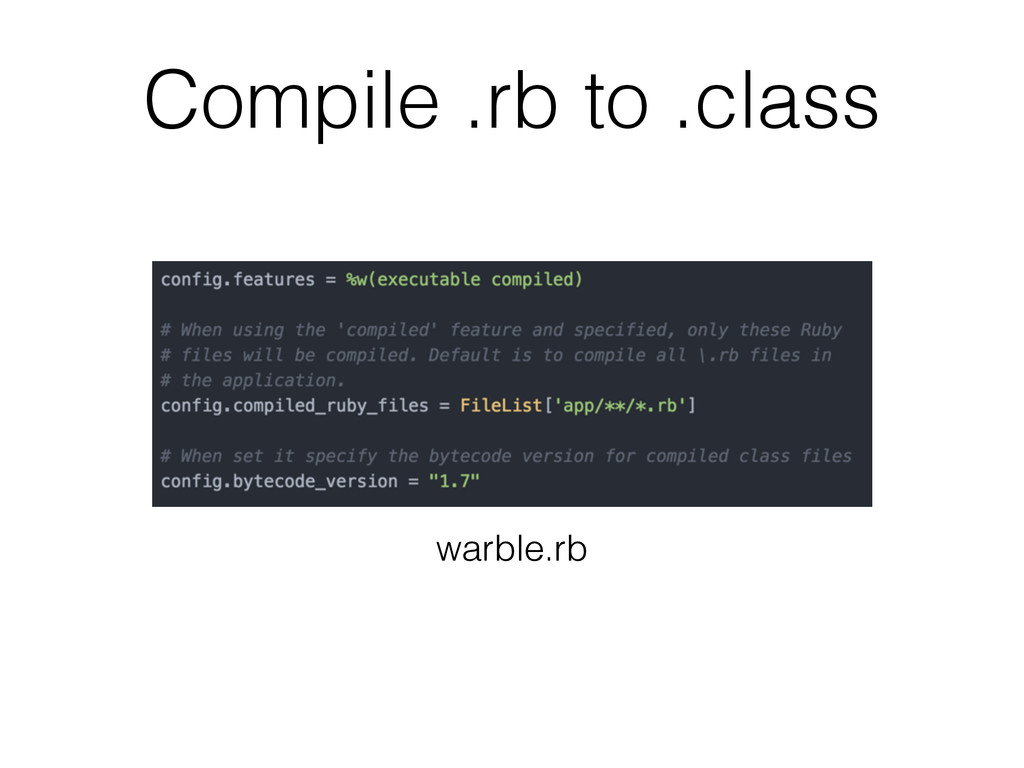 Compile .rb to .class warble.rb