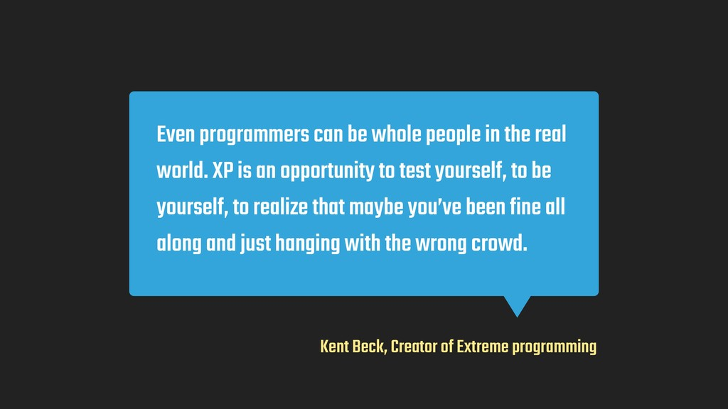 Even programmers can be whole people in the rea...