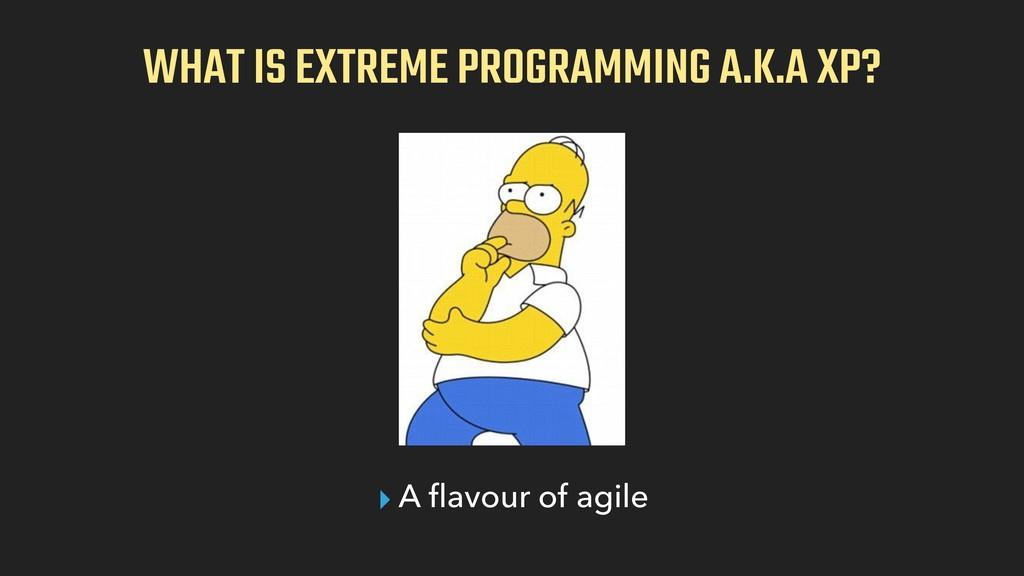 WHAT IS EXTREME PROGRAMMING A.K.A XP? ▸ A flavou...