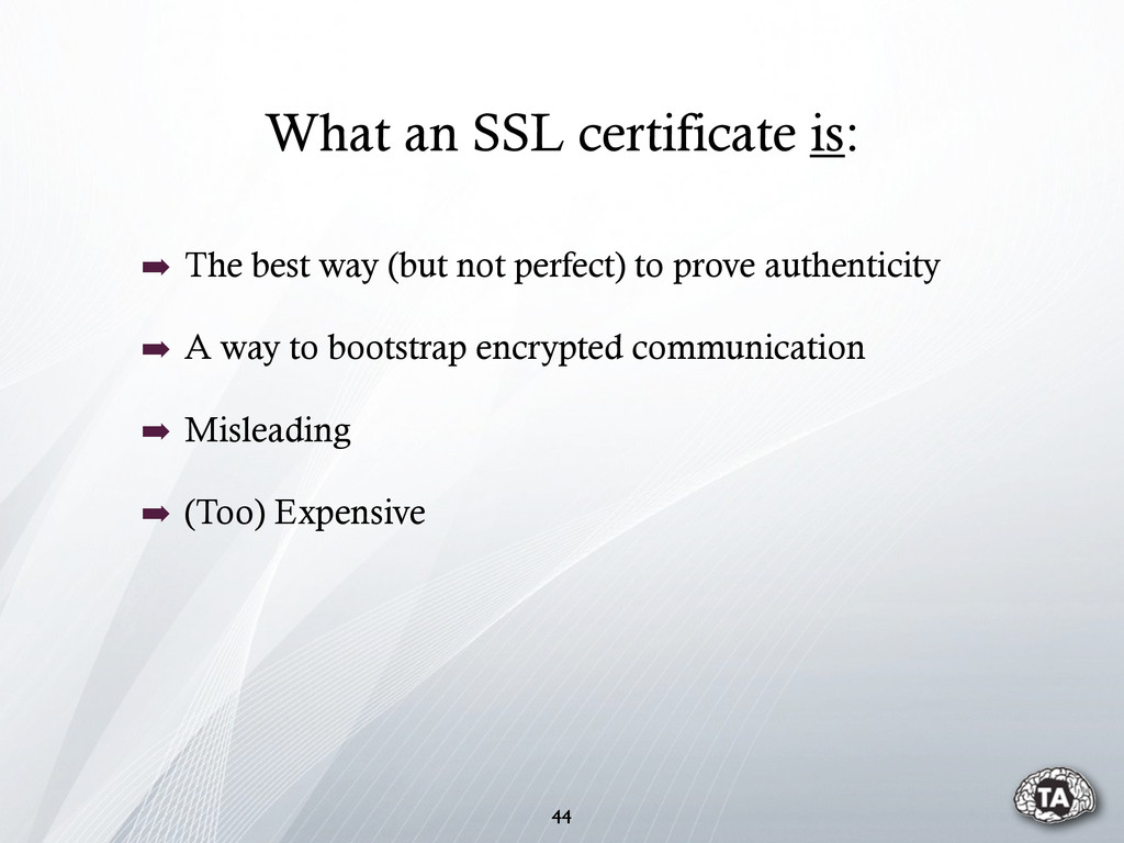 What an SSL certificate is: 44 ➡ The best way (...