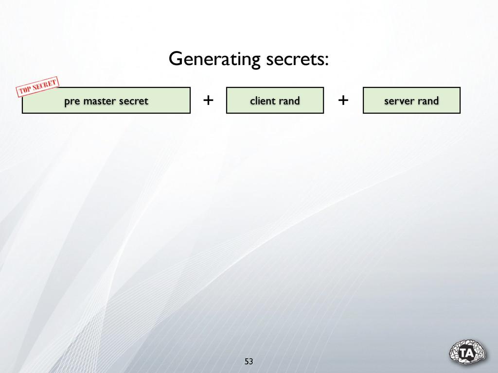 53 pre master secret server rand client rand Ge...