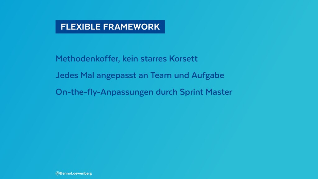 FLEXIBLE FRAMEWORK  Methodenkoffer, kein star...