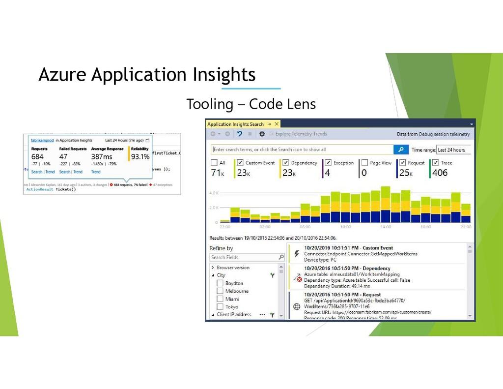 Tooling – Code Lens Azure Application Insights