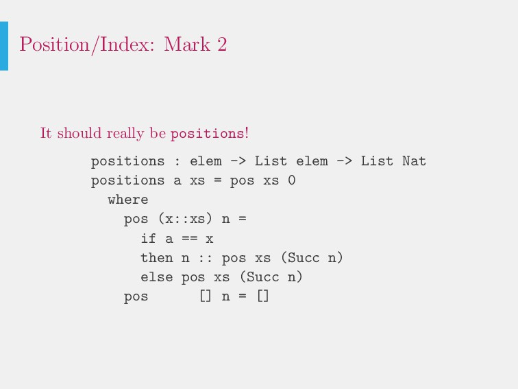 Position/Index: Mark 2 It should really be posi...