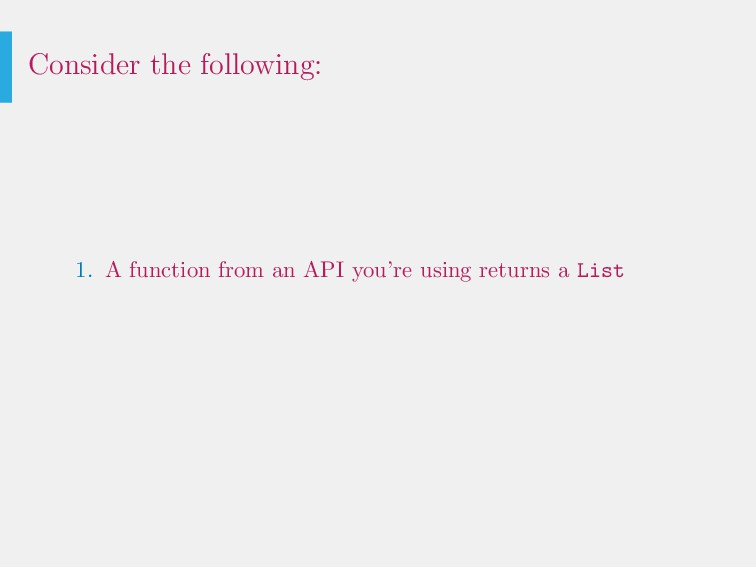 Consider the following: 1. A function from an A...