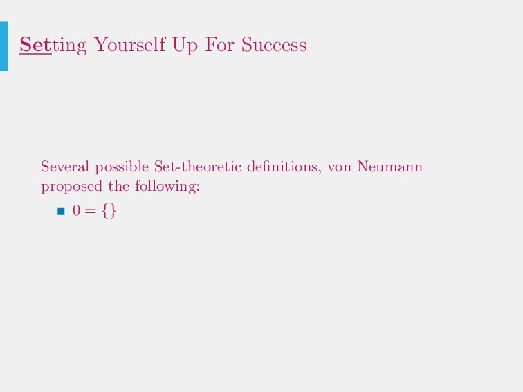 Setting Yourself Up For Success Several possibl...