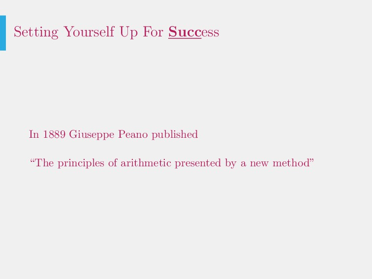 Setting Yourself Up For Success In 1889 Giusepp...